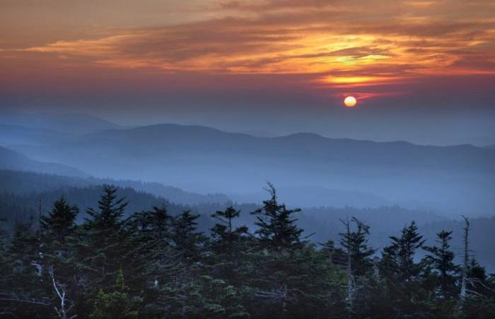 Clingman&#039;s Dome sunset